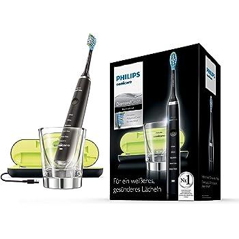 Philips Sonicare DiamondClean Noire HX9359/89 Brosse à dents électrique + verre de charge + coffret de voyage USB