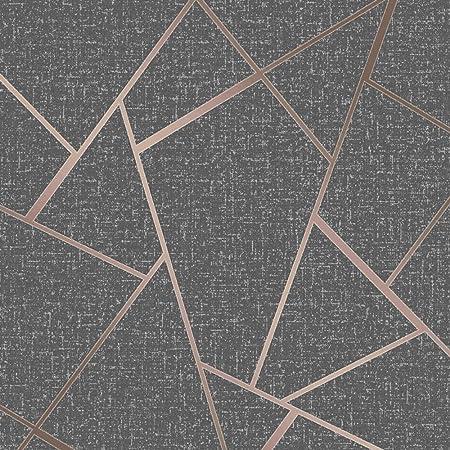 Fine Decor Wallcoverings FD42283 Quartz Fractal Wallpaper, Copper