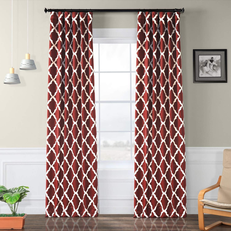 HPD HALF PRICE DRAPES BOCH-KC23-96 Trellise Room Darkening Curtain 50 x 96 Trellise 1 Panel