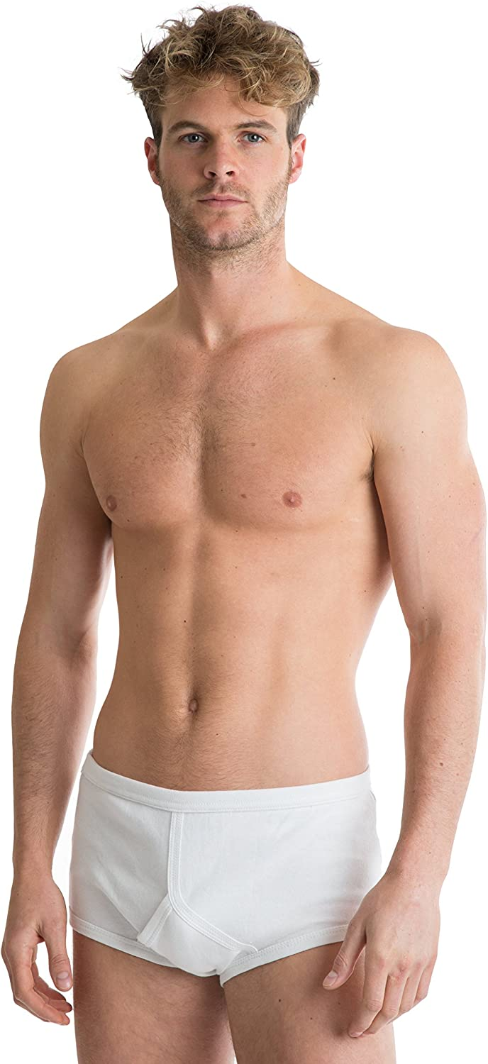 Octave 6 Pack Mens Soft 100% Combed Cotton Classic Y Style Full Briefs