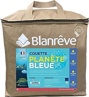 Blanrêve Tempérée Planète Bleue-300g/m² -240x220 cm Couette, Microfiber, Blanc, 240 CM x 220 CM