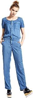 Escalier Women's Denim Jumpsuits Casual Tencel Romper Playsuit