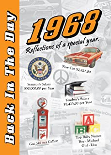 1968 Back In The Day - 24-page Greeting Card / Booklet with Envelope (Size - 7