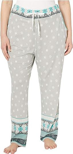 Plus Size Nordic Border PJ Pants