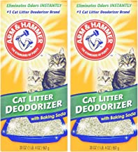 ARM & HAMMER Cat Litter Deodorizer With Activated Baking Soda 20 oz (Pack of 2)