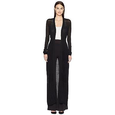 ZAC Zac Posen Aviva Cardigan Gown (Black) Women