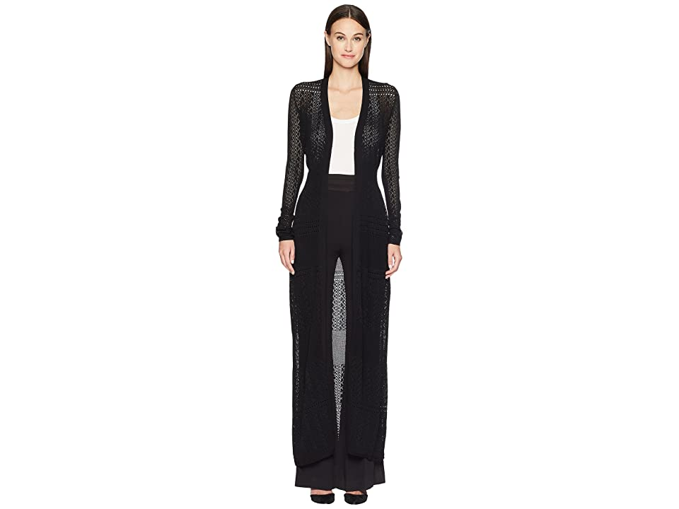 ZAC Zac Posen Aviva Cardigan Gown (Black) Women