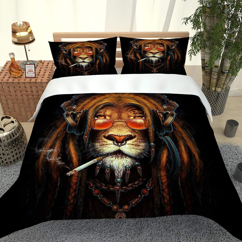 Mesa Mall YUEKDA 3 Pieces Duvet Cover Set List price - Animal Lion Creative 53x79inch