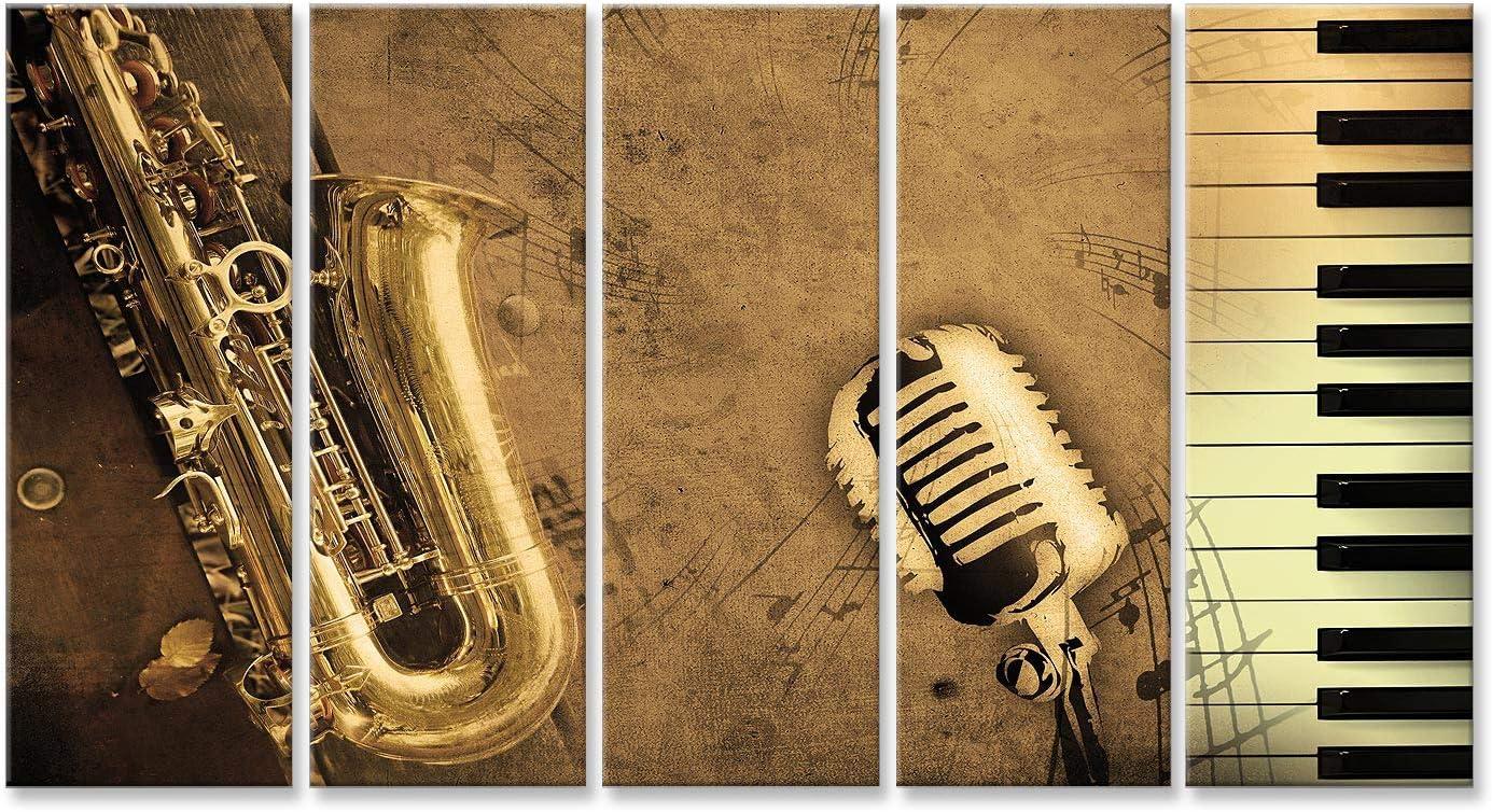 CANVAS Leinwand bilder XXL Saxophon Bild Wandbild 15F0234600