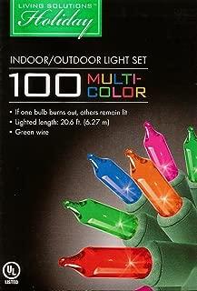 Living Solutions 100 Multi Color Heavy Duty Indoor/Outdoor Light Set