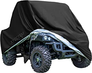 "XYZCTEM UTV Cover with Heavy Duty Black Oxford Waterproof Material, 114.17"" x 59.06"" x 74.80"" (290 150 190cm) Included Storage Bag. Protects UTV From Rain, Hail, Dust, Snow, Sleet, and Sun (XL)"