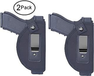 Tenako 2 Pack Universal IWB Holster Inside Waistband Fits All Firearms S&W M&P Shield 9/40 1911 Taurus PT111 G2 Sig Sauer Glock 17 19 26 27 42 43 Springfield XD XDS
