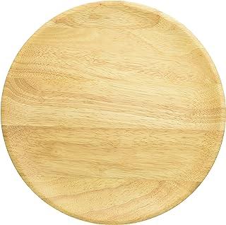 丸和貿易 ラバーウッド 丸プレート ナチュラル 30cm 1003803-02