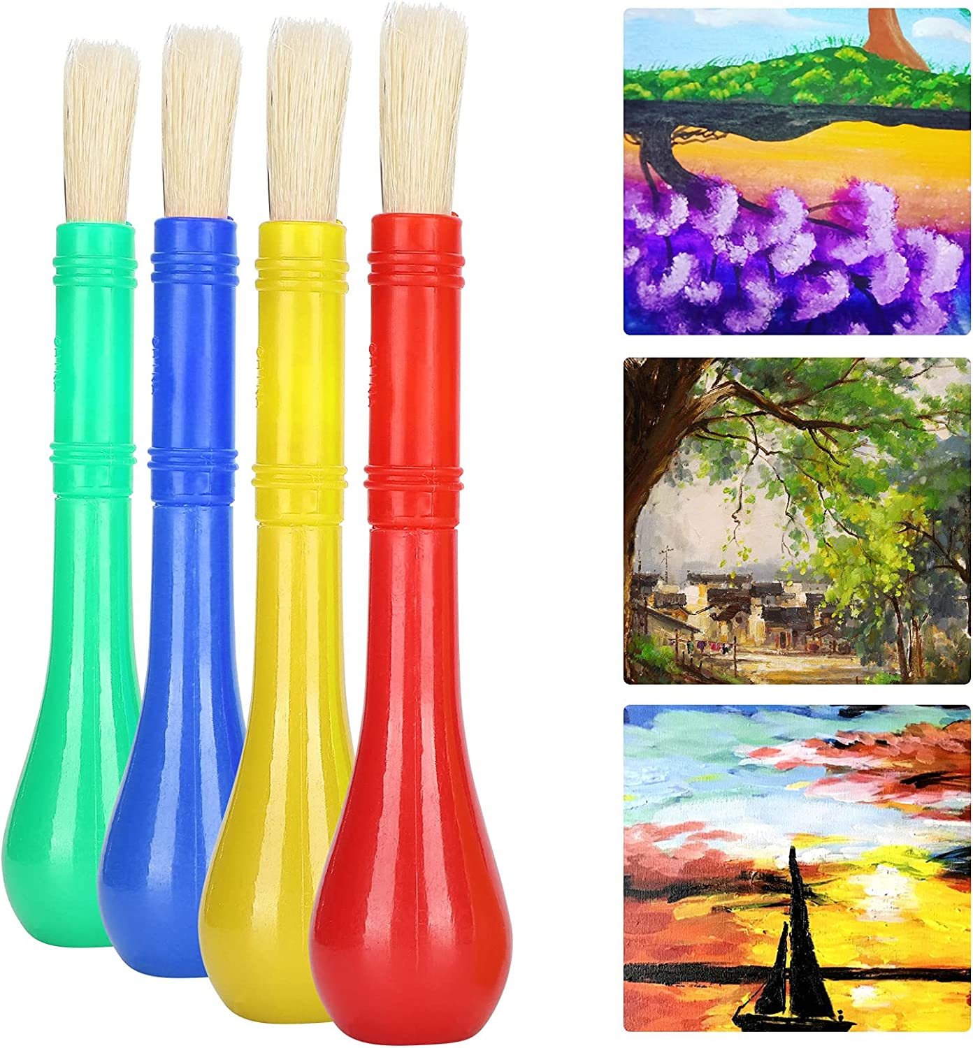 SALUTUY Kids Paint Brushes Practical to 4pcsQ Free shipping / New Easy Clea Durable Nippon regular agency