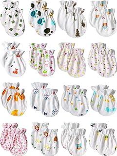 Newborn Baby Cotton Mittens No Scratch Baby Gloves Unisex Baby Gloves for 0-6 Months Baby Boys Girls