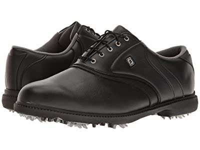 FootJoy Originals Cleated Plain Toe Twin Saddle (Black) Men