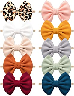 Baby Headbands Stretchy Nylon Headband with Bows for Infant Baby Toddler Girls
