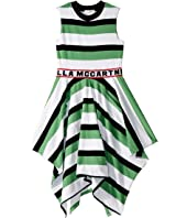 Stella McCartney Kids - Sleeveless Logo Striped Dress (Toddler/Little Kids/Big Kids)