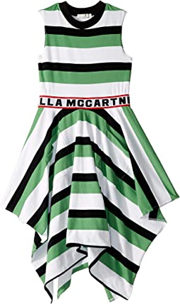 Sleeveless Logo Striped Dress (Toddler/Little Kids/Big Kids)