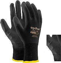 24 paar werkhandschoenen PU Palm gedipt zwart nylon algemene handling werkhandschoenen, tuinieren, bouwers, monteur