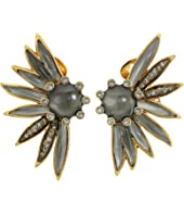 Oscar de la Renta - Floral Resin and Pave C Earrings