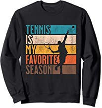 Distressed Vintage Tennis Is My Favorite Season Gift Sweatshirt