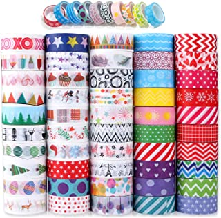 Washi Tape, Buluri 50 Rouleaux Washi Masking Tape Adhésif Ruban Adhésif pour Scrapbooking Artisanat de Bricolage (Washi Ta...