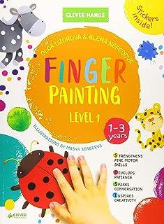 Finger Painting. Level 1: Stickers Inside! Strengthens Fine