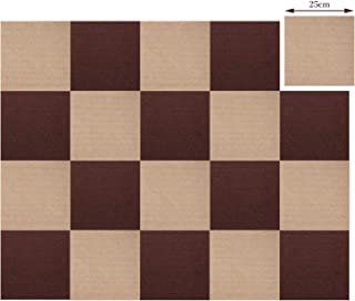 タイルカーペット ジョイントマット 床保護マット 床暖房対応 防音 吸着 滑り止め 自由に組み合わせ タイルマット 25×25cm 20枚組 (ブラウン10枚+ベージュ10枚)