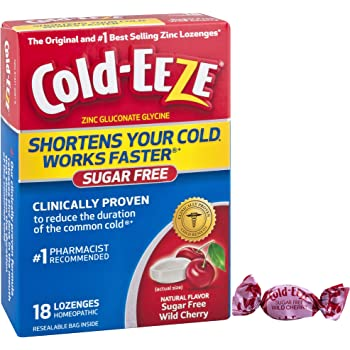 Cold-EEZE Cold Remedy Lozenges Sugar Free Wild Cherry, 18 Count