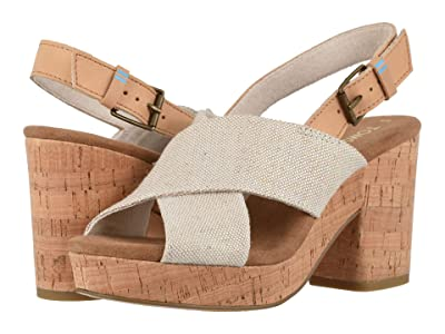 TOMS Ibiza (Multi Pearlized Metallic Woven/Honey Leather) Women