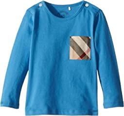 Burberry Kids Mini Long Sleeve YNG Tee (Infant/Toddler)