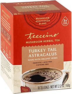 Sponsored Ad - Teeccino Mushroom Adaptogen Herbal Tea – Turkey Tail Astragalus Toasted Maple – Support Your Health with Mu...