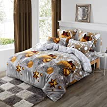 Christmas Quilt Cover/Duvet Cover/Doona Cover Set (Super King)