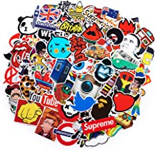 100Pack SuprCool Stickers Set Random Sticker Decals for Water Bottle Laptop Cellphone Skateboard Bicycle Motorcycle Car Bumper Luggage Travel Case. Etc (100pcs)