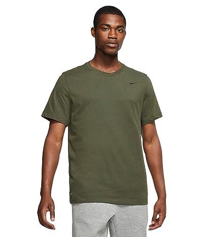 Nike Dry Tee Dri-FIT Cotton Crew Solid (Cargo Khaki/Black) Men