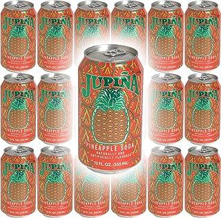 Jupina Pineapple Soda, 12oz Jar (Pack of 18, Total of 218 Oz)