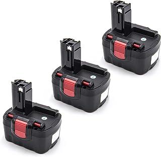 vhbw 3x batería compatible con Bosch 13614-2G, 14.4VE-2B, 1661K, 32614-2G, 33614-2G, 3454-01, 3454SB, 3660CK herramientas (1500mAh NiMH 14,4V)