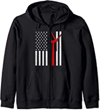 Wind Turbine Technician American Flag Zip Hoodie