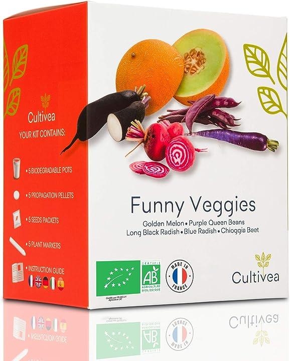 Mini kit pronto per la coltivazione di verdure insolite - 100% semi biologici cultivea B0854M27KR