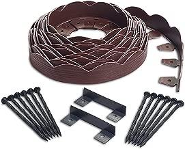 EasyFlex 3210RDE-40C Scallop No-Dig Landscape Edging, 40', Red