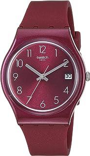 Swatch Worldhood Quartz Silicone Strap, Red, 16 Casual Watch (Model: GR405)