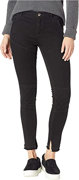 Denim Quilted Moto Jeggings