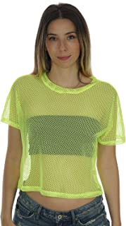 Sheer Mesh Fishnet Rave Festival Women's Crop Top