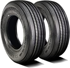 Set of 2 (TWO) Transeagle ST Radial All Steel Heavy Duty Premium Trailer Tires-ST225/75R15 124/121L LRG 14-Ply