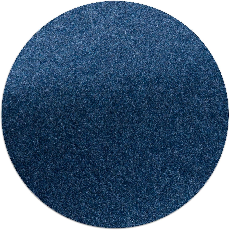 Rasenteppich/Kunstrasen Farbwunder Royal   Zuschnitt nach Maß   denim blau    8x8cm