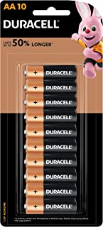 Duracell Coppertop Alkaline AA Battery, 10 Pack