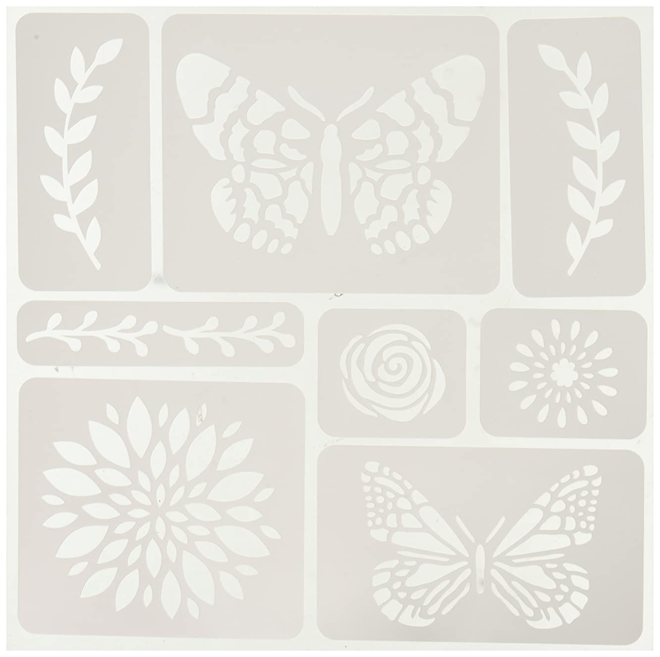 Momenta Butterflies and Flowers Adhesive Fabric Stencil