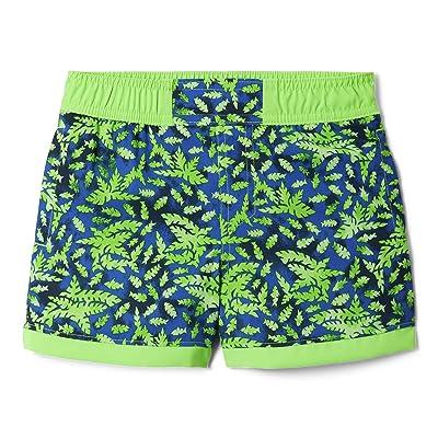 Columbia Kids Sandy Shorestm Boardshorts (Toddler) (Green Mamba Leafy Predators/Green Mamba) Boy