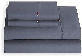 Tommy Hilfiger 22081862TH002 Signature Pillowcase, King, Folkstone Gray